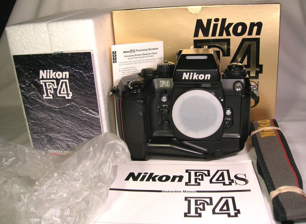 Excellent Nikon F4s Camera Body With Eye Cup Neck Strap Box