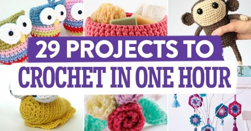 29 Projects To Crochet In One Hour Compiled By Topcrochetpatterns