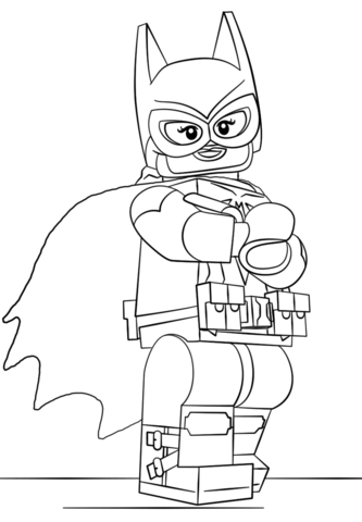 Lego Batgirl Coloring Page From The LEGO Batman Movie Category Select 25744 Printable Crafts