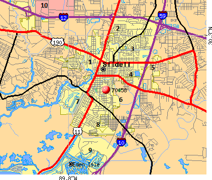 Slidell Map | Vampire gdr New Orleans | Map e New Orleans on