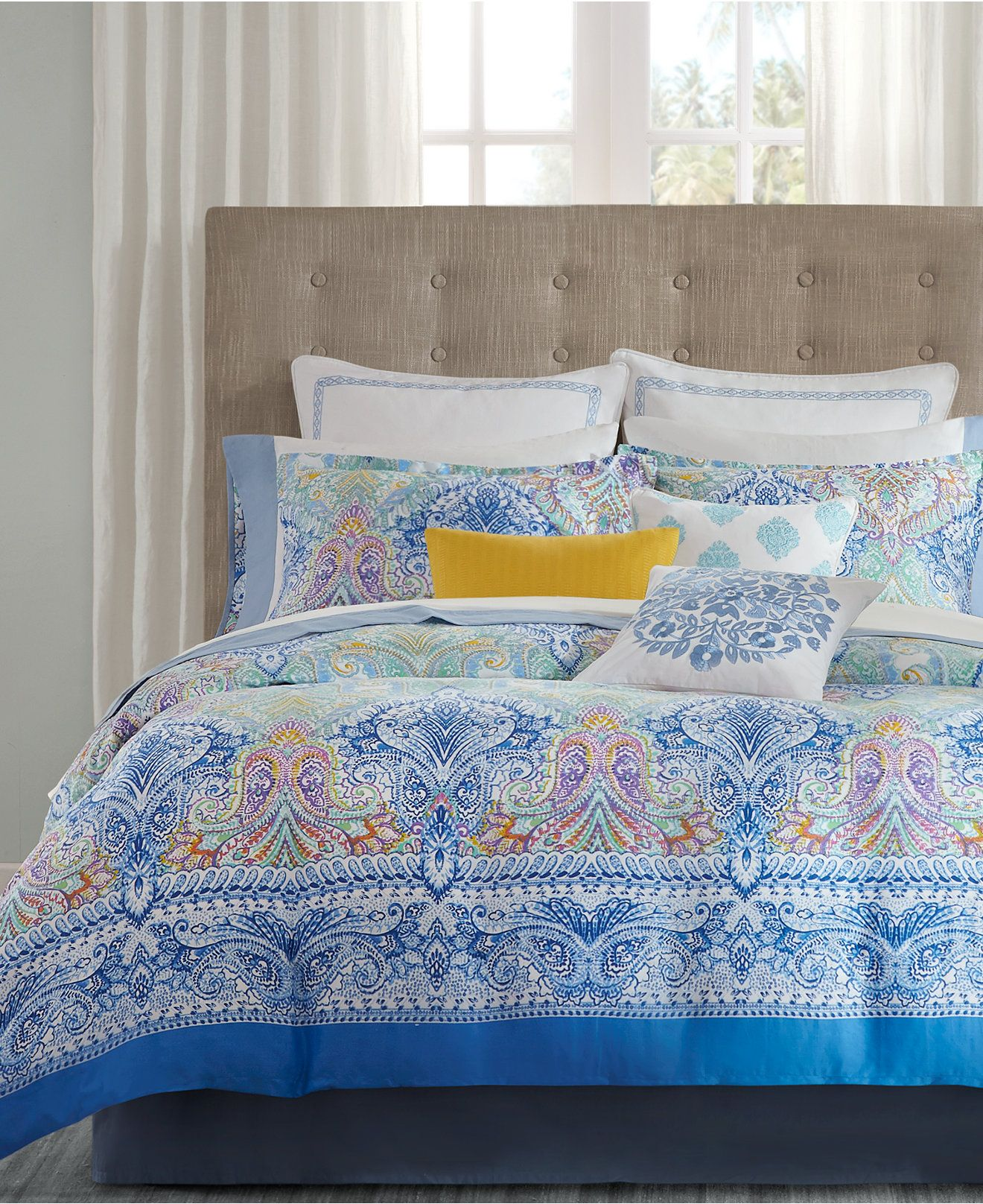 Echo Painted Paisley forter and Duvet Sets Bedding Collections