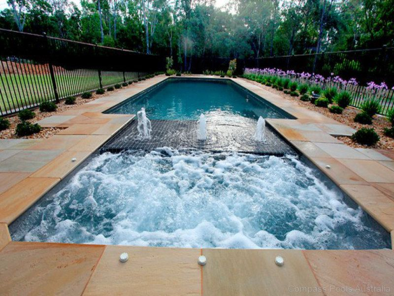Spa Pool Ideas ideas about spectacular swimming pool and spa design pics on wow home designing styles about spectacular swimming pool design Spa Incorporated Into Pool Sun Pod Water Feature Cascade Pools