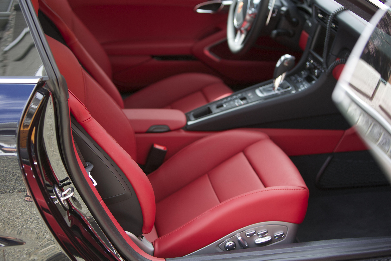 2015 porsche 911 991 turbo s black carrera red