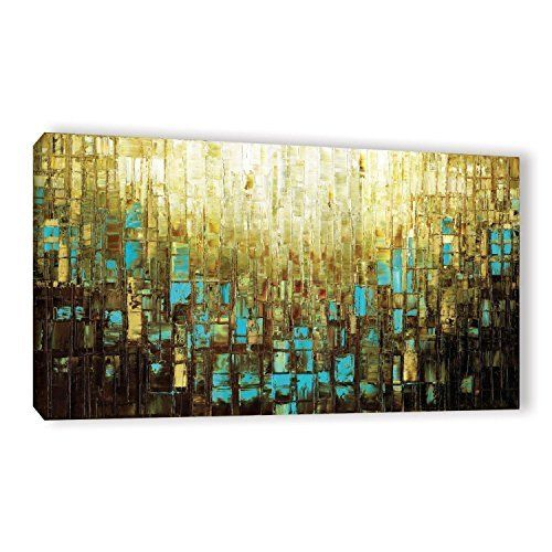 Modern Wall Decor Large Abstract Wall Art Blue Brown Mid Century ...