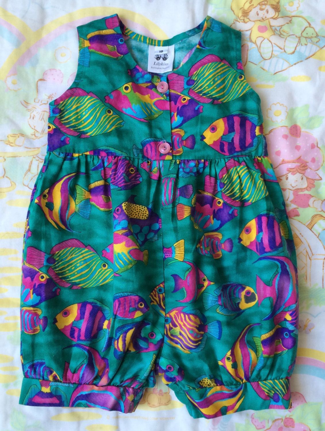 7a856a54d051 Fish Romper 18-24 Months by lishyloo on Etsy