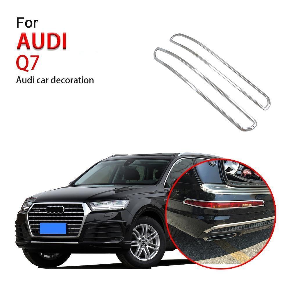 Ninte Audi Q7 2016 2019 2 Pcs Abs Chrome Rear Fog Light Lamp Cover Audi Q7 Lamp Cover Audi