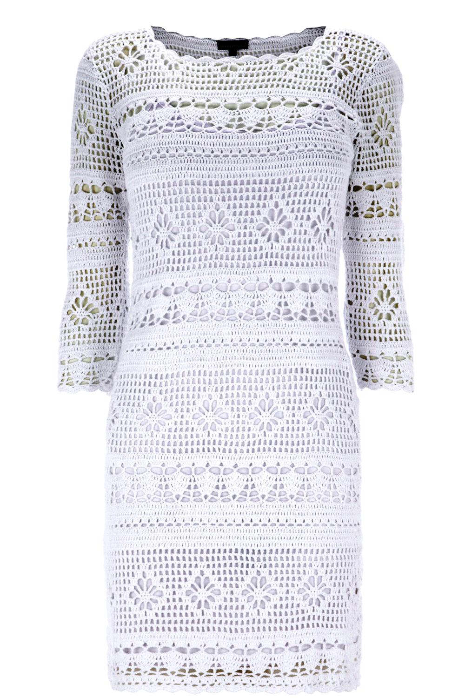 Crochetemoda: Crochet - Vestido Branco Curto II auf Pinterest ...