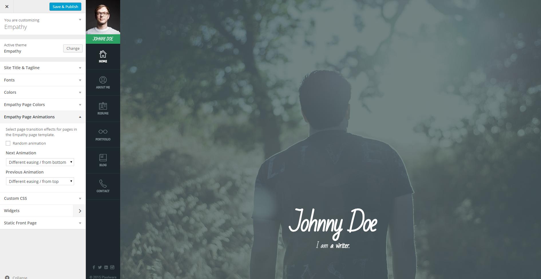 Empathy #resume #vcard #wordpress #theme #johndoe | Portfolio ...