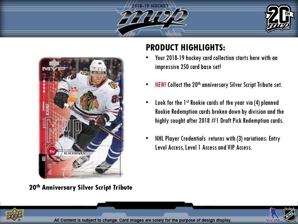 2018 19 Upper Deck Mvp Hockey 21ct Blaster 20 Box Case Hockeycards Upper Deck Hockey
