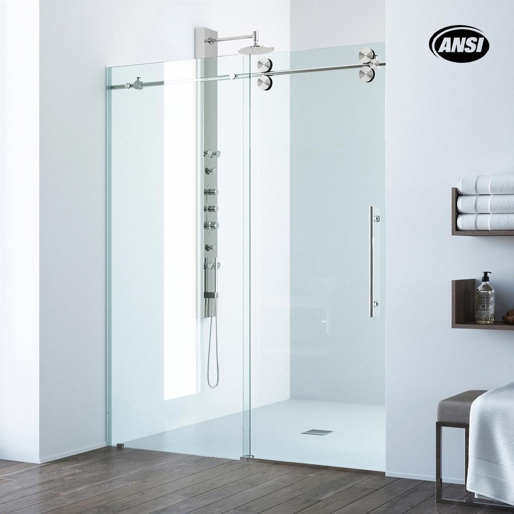 Vigo Elan 56 To 60 In X 74 In Frameless Sliding Shower Door In