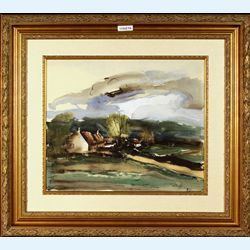 Lot 511-Maurice De Vlaminck Lithograph with pochoir Signed