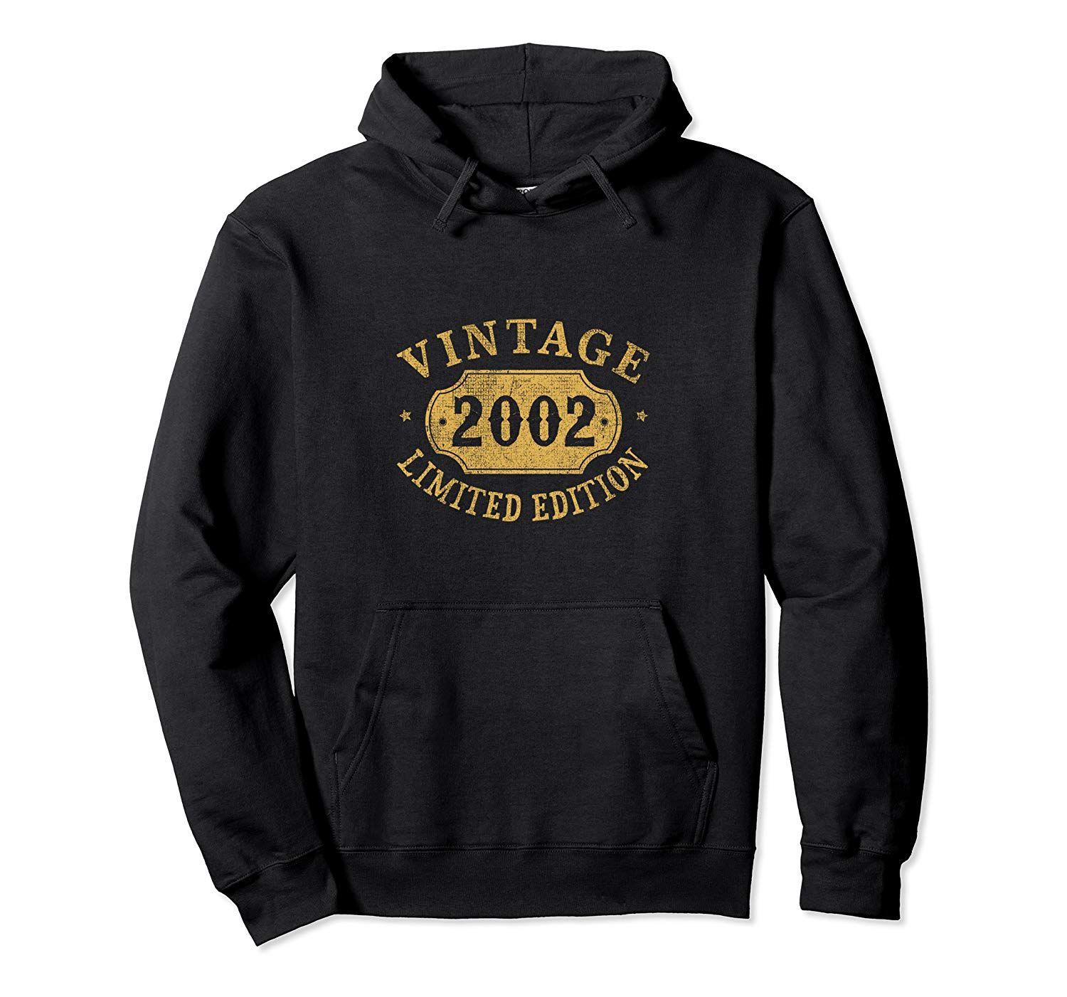 17 years old 17th Birthday Anniversary Gift Limited 2002 Pullover Hoodie #17thbirthday