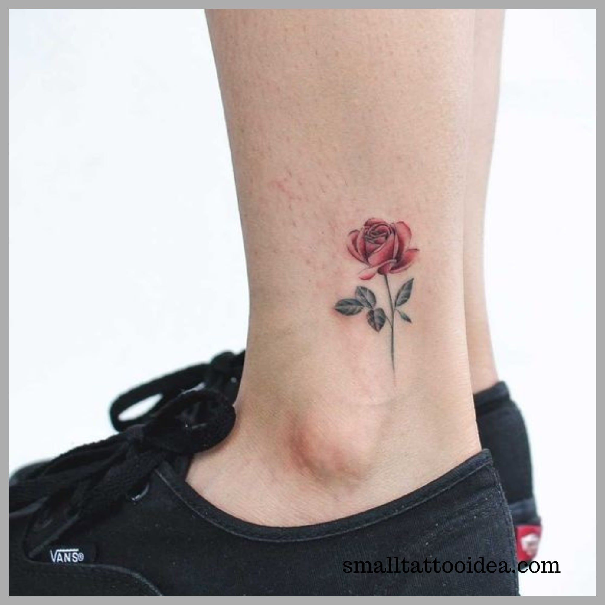 35 Small Red Rose Tattoo Ideas For Girls Tattoo Rose Tattoos For Women Rose Tattoo On Ankle Small Rose Tattoo