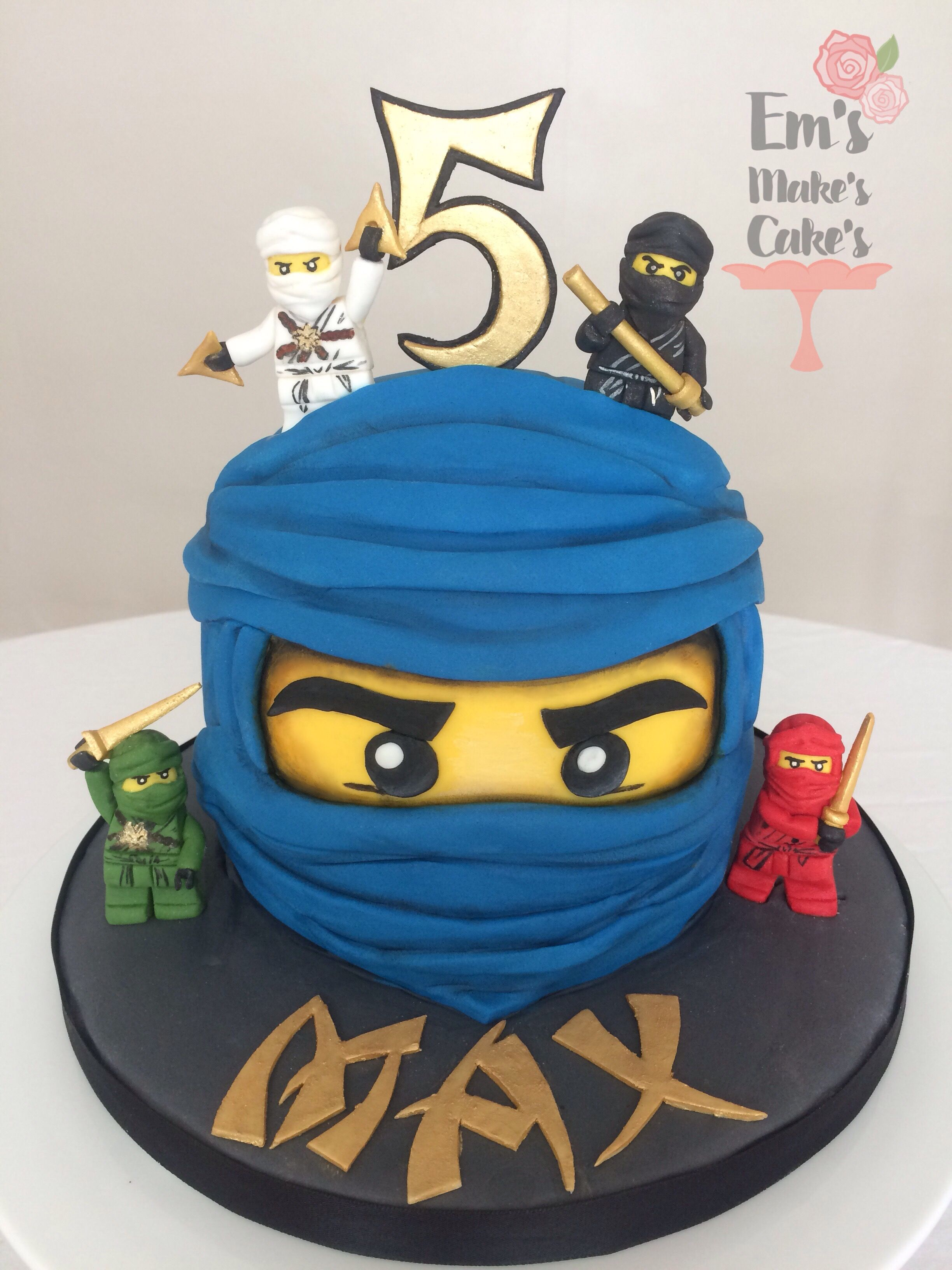 Lego Ninjago Cake With Images Lego Ninjago Birthday Ninja