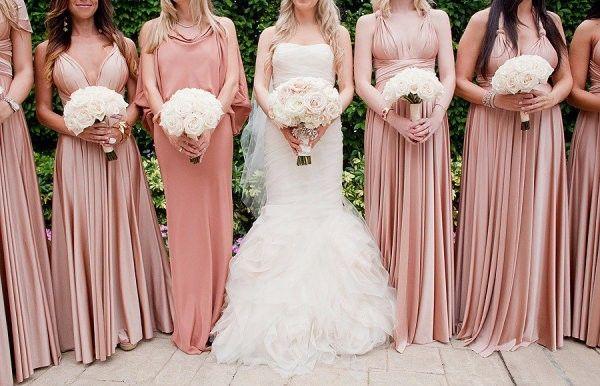 816eaff359 Look das madrinhas em rosa claro   rosa chá