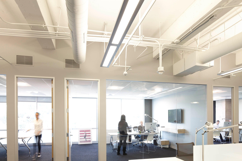 Open Ceiling Led Lighting Google Search Office Lighting