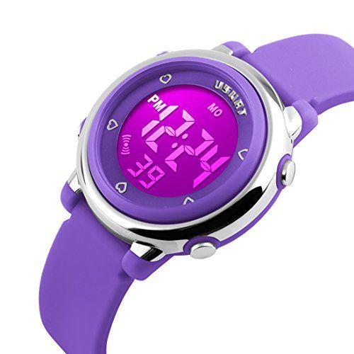 96d59618c13 USWAT® Children Digital Watch Outdoor Sports Watches Boy Kids Girls LED  Alarm Stopwatch Wrist watch…