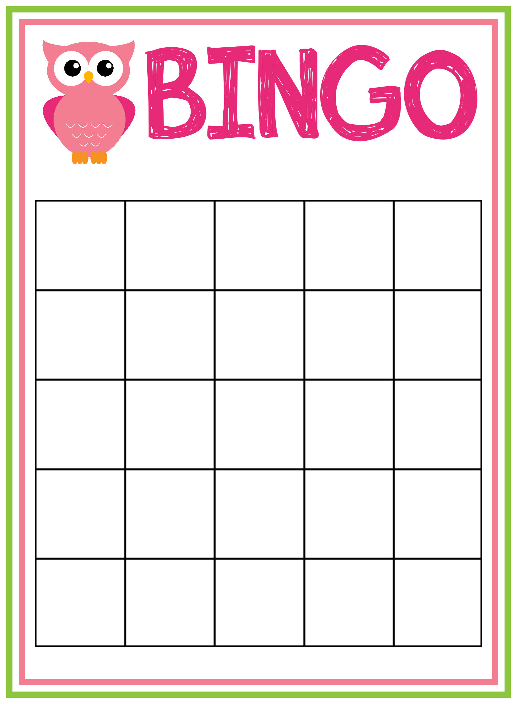 Babey shower bingo game | The 30-Day FlowTox Cleanse