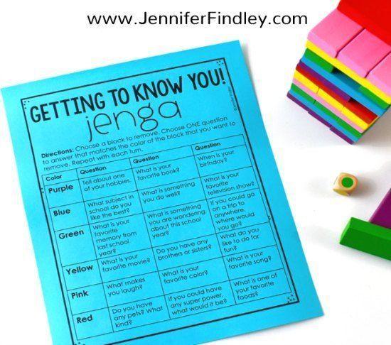 Getting To Know You Jenga Game
