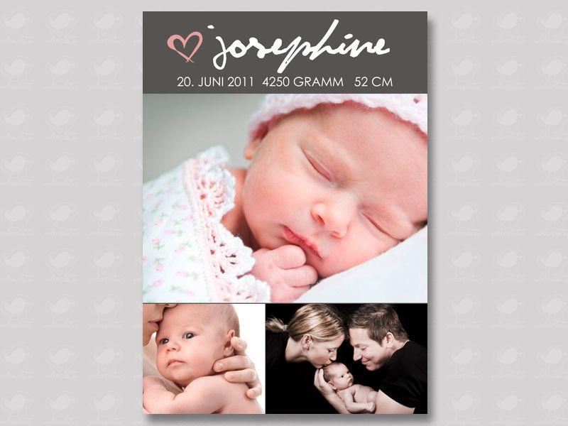 """individuelle Geburtskarte """"Postkarte"""" Babykarte von Wolkenpost-de auf DaWanda.com"""