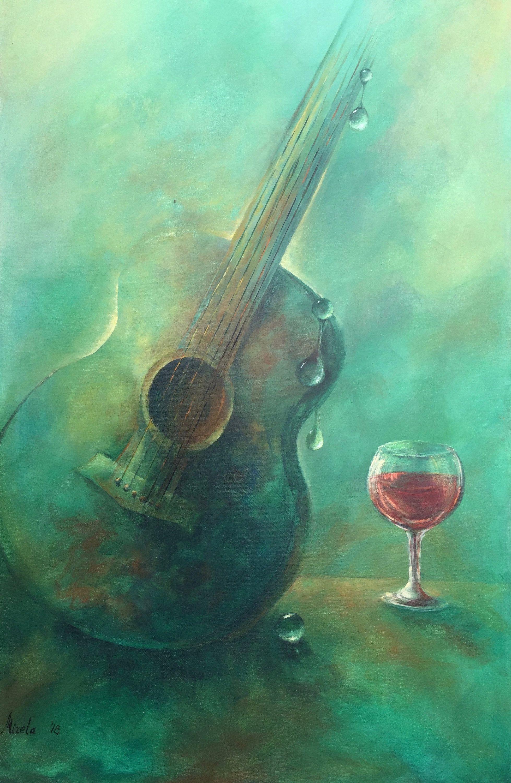 Modern abstract painting. Original Acrylic Painting. Fine Art. Abstract Painting. Contemporary Wall Art. Original Artwork. Guitar Painting