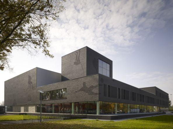 Theo Koomenlaan, Eindhoven, Netherlands, Mecanoo Architecten, Fontys Sports College, Sportzentrum Eindhoven, Genneper Parken, Fontys University of Applied Sciences