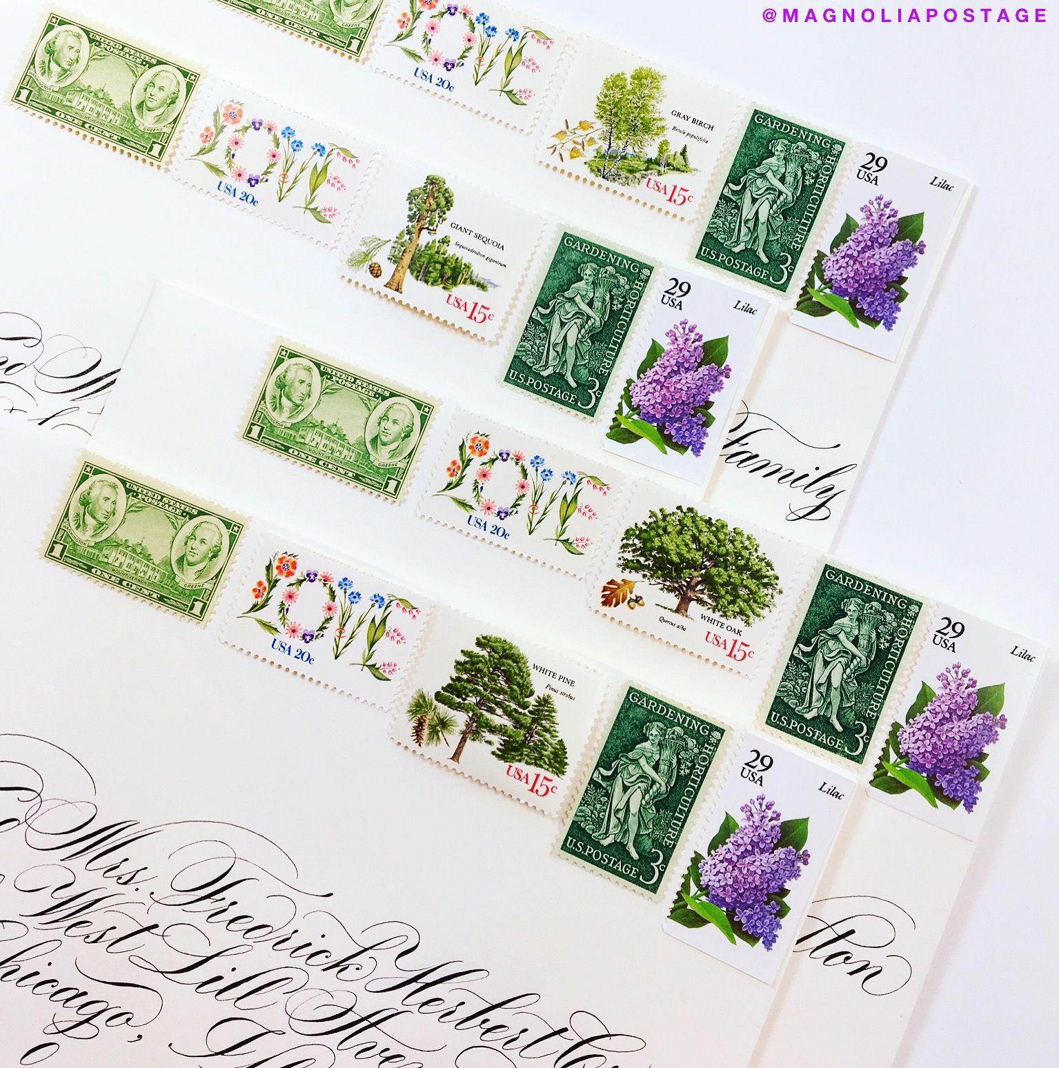 Vintage Postage Stamps Wedding