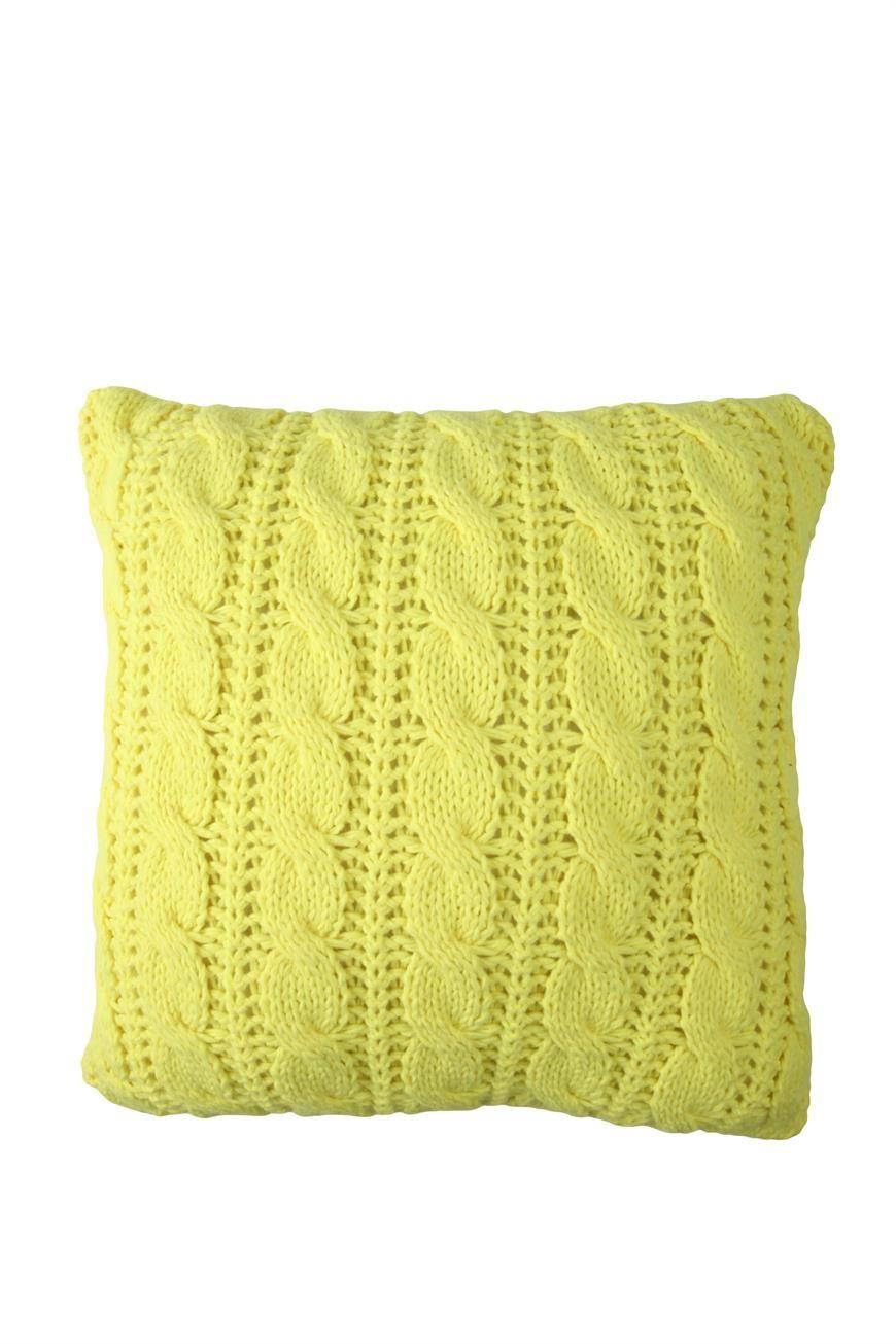 Knitted cushion cotton on h o u s e pinterest