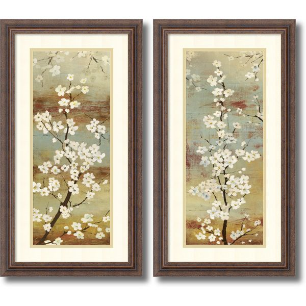 Asia Jensen 'Blossom Canopy- set of 2' Framed Art Print 14 x 26-inch Each | Overstock.com Shopping - The Best Deals on Prints