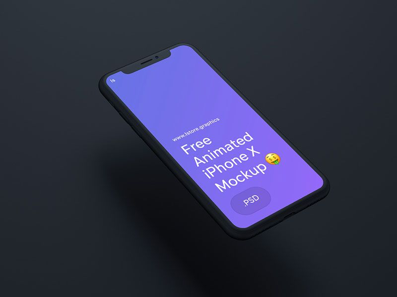 Animated iPhone X Mockup PSD Free Download | Free iPhone