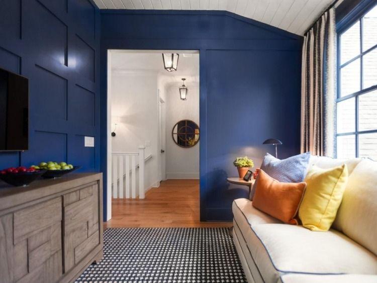 Idées de revêtement mural bois et panneaux décoratifs Ranch style - meuble en bois repeint