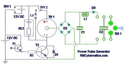 Diy homemade power pulse generator rmcybernetics pinterest power pulse generator circuit diagram cheapraybanclubmaster Images