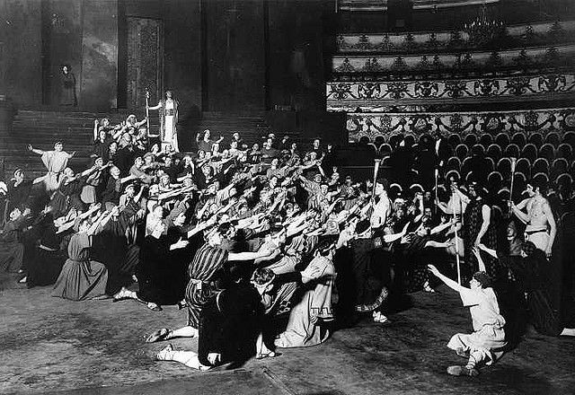 "Max Reinhardt - Sophocles' ""Oedipus Rex"" at the Circus Schumann, Berlin (1910)"