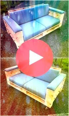 con palets Sofas con palets Sofas con palets DIY Garden Decoration DIY Garden Decoration Beautiful outdoor pallet wood bench Diy home decor Diy home decor DIY Garden Deco...