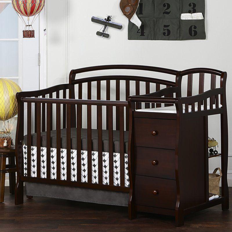 Caso 3 In 1 Mini Convertible Crib And Changer Combo Convertible Crib Mini Crib Bedding Cribs