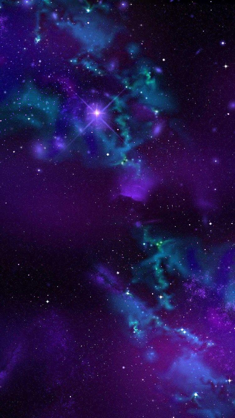 Purple Stars Purple Galaxy Wallpaper Galaxy Wallpaper Iphone Background Wallpaper