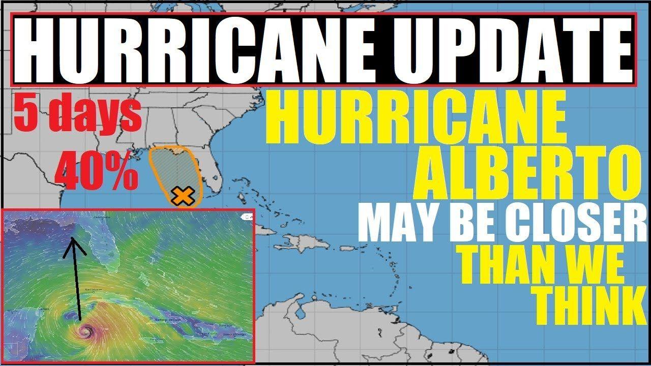 Hurricane Alberto Gulf Of Mexico National Hurricane Center Says 40 Chance Over 5 Days Youtube National Hurricane Center Gulf Of Mexico Hurricane