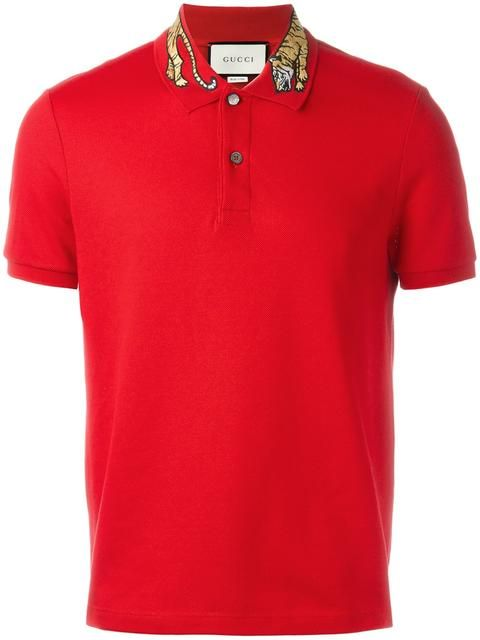 5eea91d6188 GUCCI Tiger Embroidered Polo Shirt.  gucci  cloth  shirt