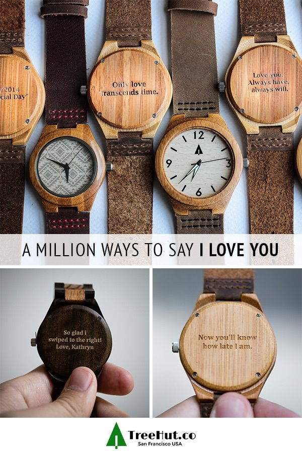 061e502fae TreeHut watches let you engrave your own special message on the back of  every watch. Choose from canvas