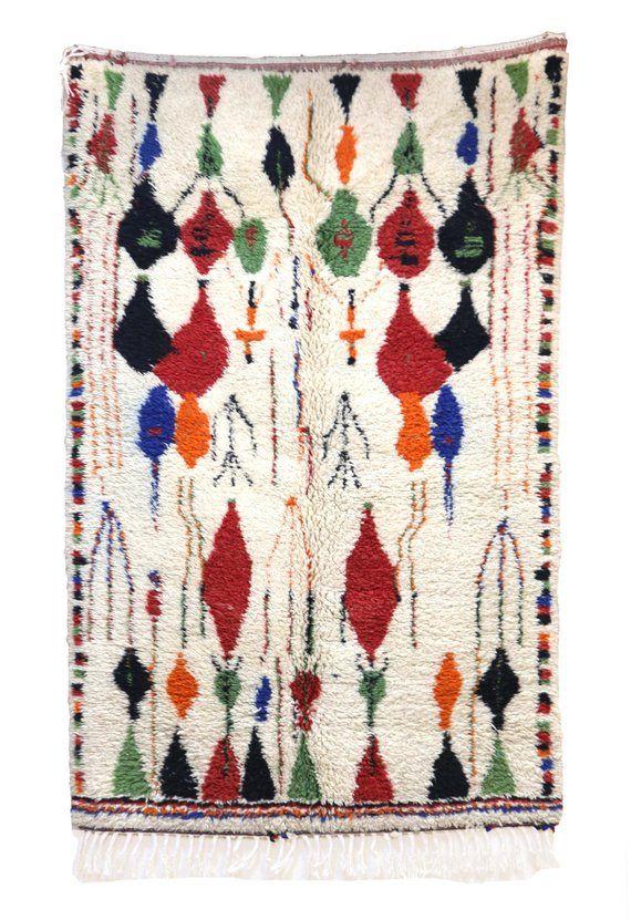 49 X 77 Azilal Vintage Moroccan Rug Azilal Carpet Tapis
