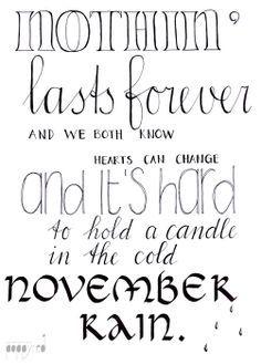 We Both Know Lyrics : lyrics, Nothin', Lasts, Forever, Hearts, Change, Candle, Novem…, November, Rain,, Country, Quotes,, Lyrics