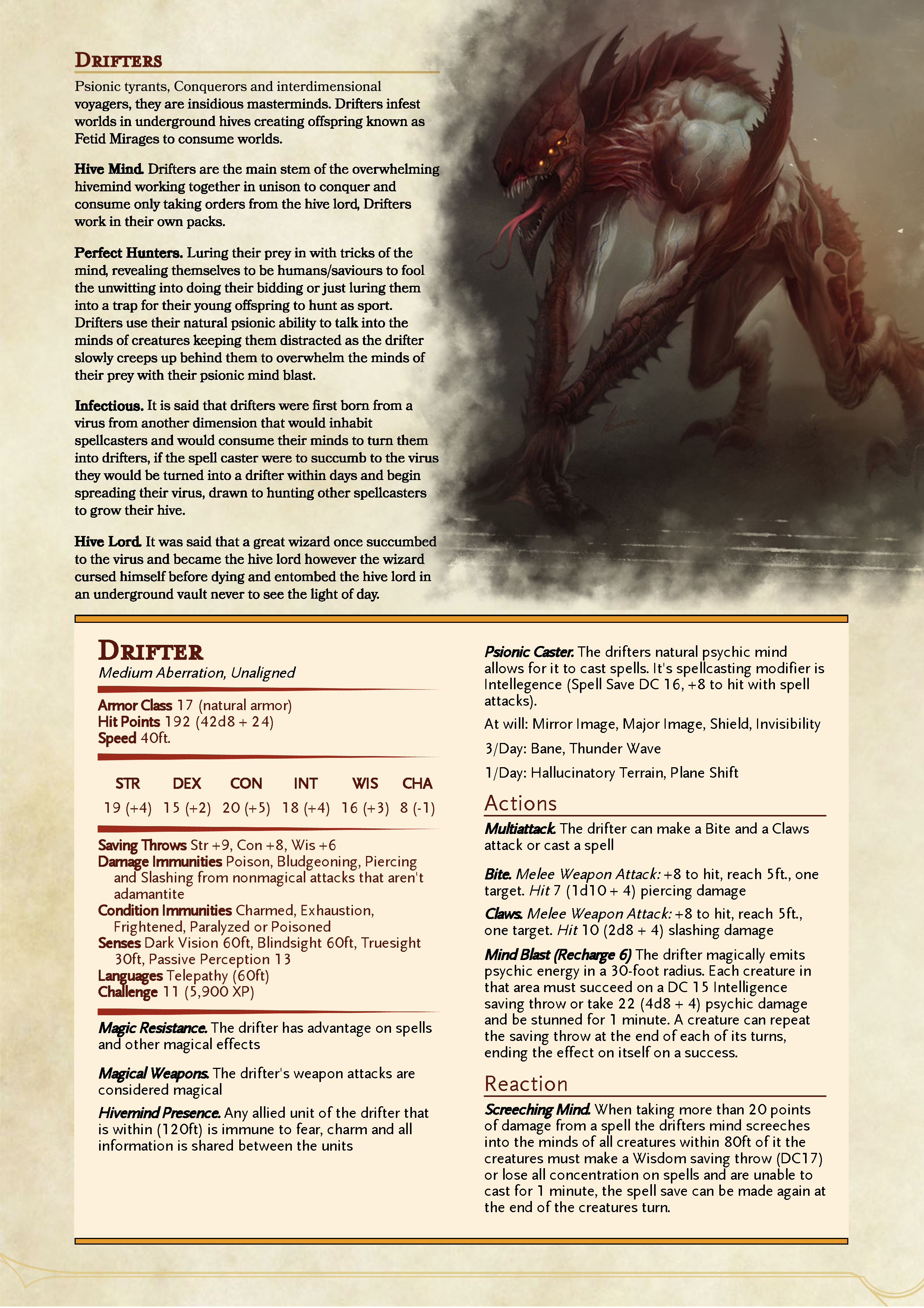 Drifter - D&D 5e Homebrew Monster Creature | D&d in 2019