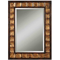 justus distressed mahogany wood framed mirror overstockcom shopping great deals on mirrors