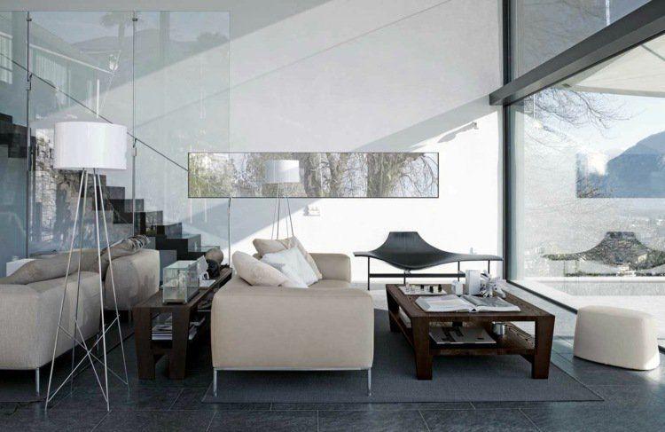 Décoration intérieur salon blanc 48 idées de déco moderne