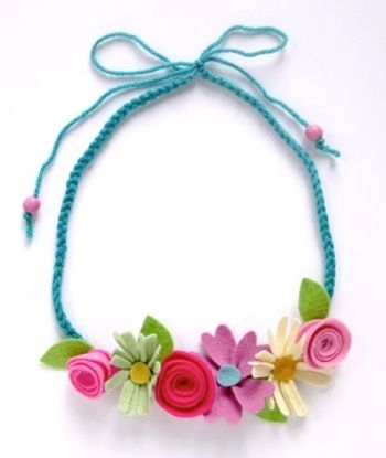 this colorful flower strand can be worn atop your pretty little head  or strung across your collar as a fancy floral necklace.  now in the shop :)  xoxo