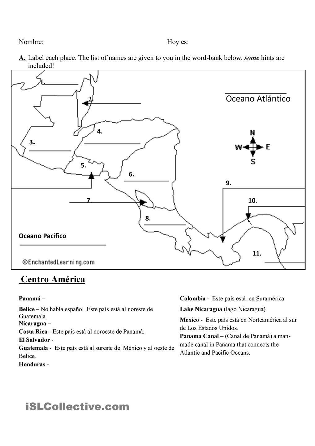 maps quiz- spanish speaking countries | gratuito ele worksheets