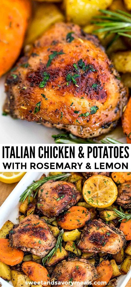 Homemade Italian Chicken and Potatoes - #made #Chicken #italienis ... -  Homemade Italian Chicken an