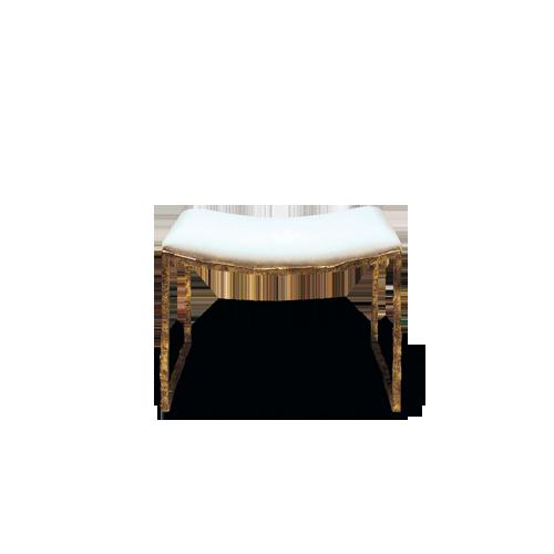 Porta Romana - CSB01, Giacometti Stool - Versailles Gold with ...