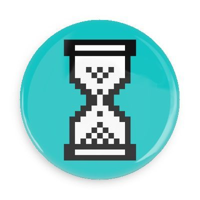 Old windows hourglass - Funny Buttons - Custom Buttons ...