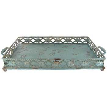 Rustic Metal Tray with Decorative Sides | Hobby Lobby | 922021